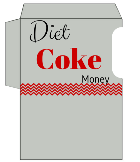 Diet Coke Money Gift Card Holder Printable
