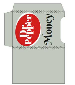 Dr. Pepper Money Gift Card Holder Printable