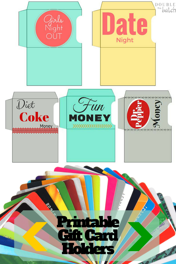 Fun Gift Card Holder Printables for when I can't think of a good gift idea!