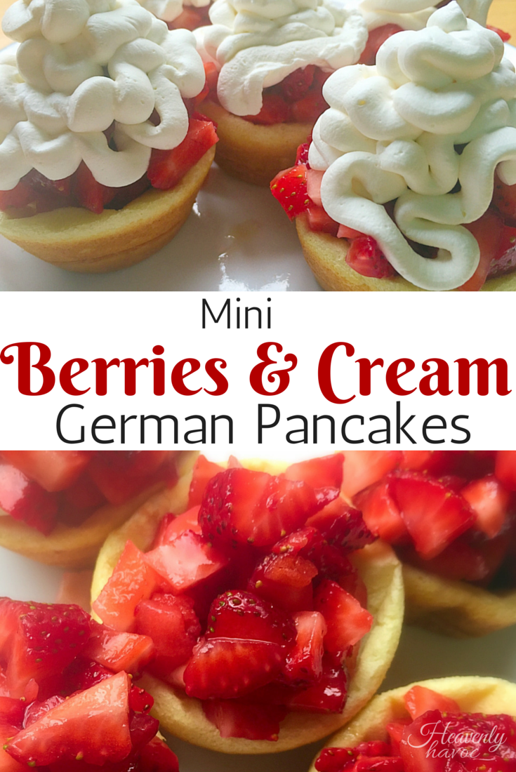 my family loves to eat these mini german pancakes for dinner!