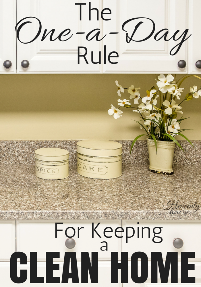 The One-a-Day Rule is about as easy as it gets for keeping a clean home! #DoubletheBatch