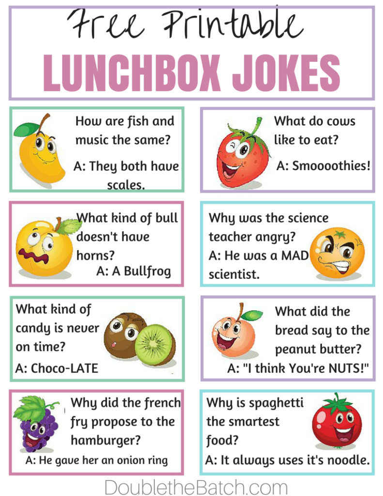 Free Printable lunchbox jokes. My kids love these. It's a simple way to make homemade lunches FUN! #BloxOff #IC #ad