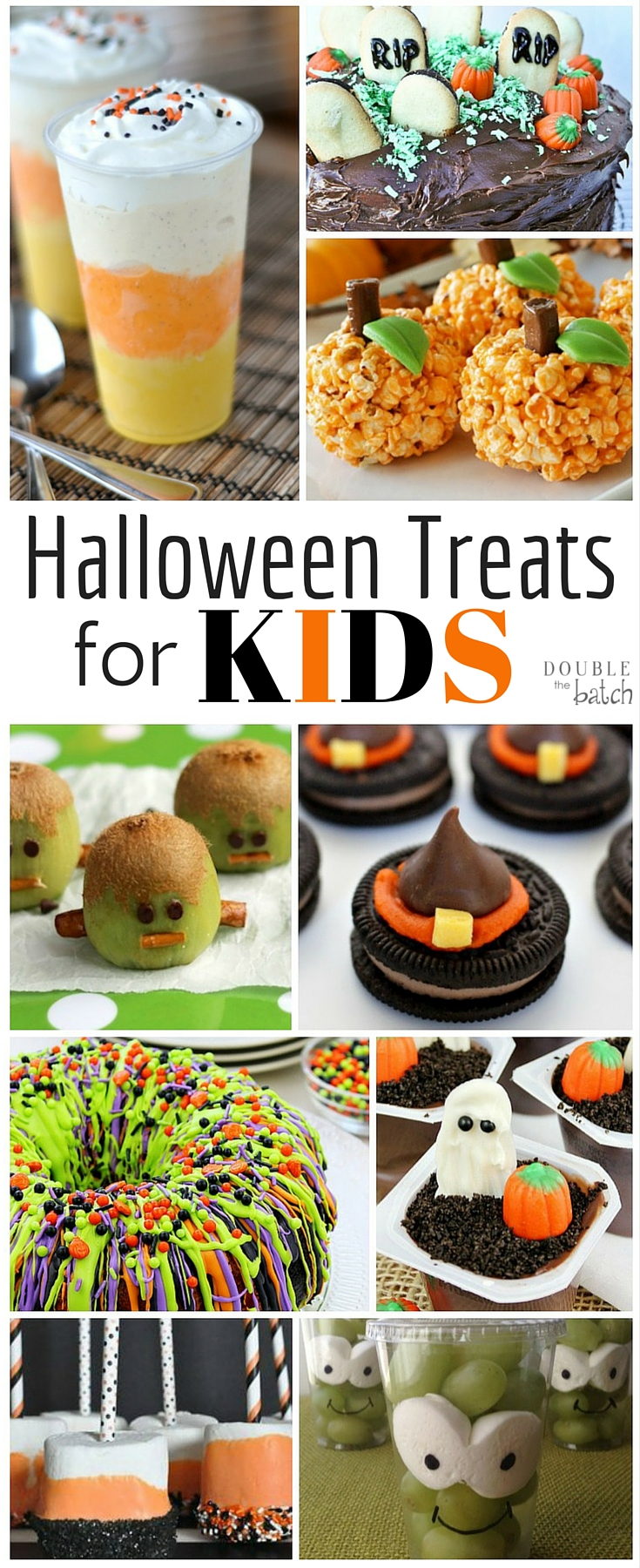 Aug 09,  · Easy Halloween treats, appetizers, and desserts are the best way to celebrate this spooky holiday. Create scary-good Halloween treats in minutes by using prepared products—we'll show you how! Start with store-bought cupcakes, bagged candy corn, and even canned pizza crust to create Halloween treats, Halloween cocktails, and Halloween appetizers that are ideal for your Halloween party.