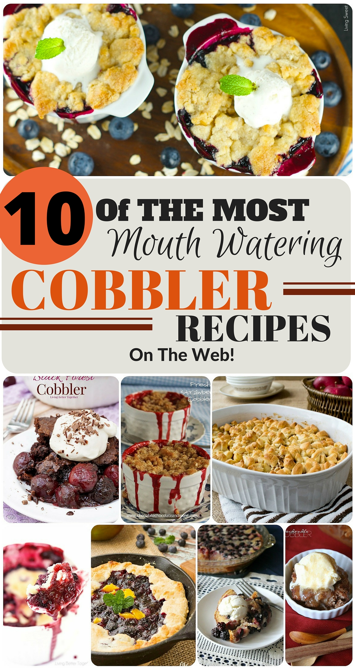 These cobbler recipes look amazing!! I specifically can't wait to try the black forest one.