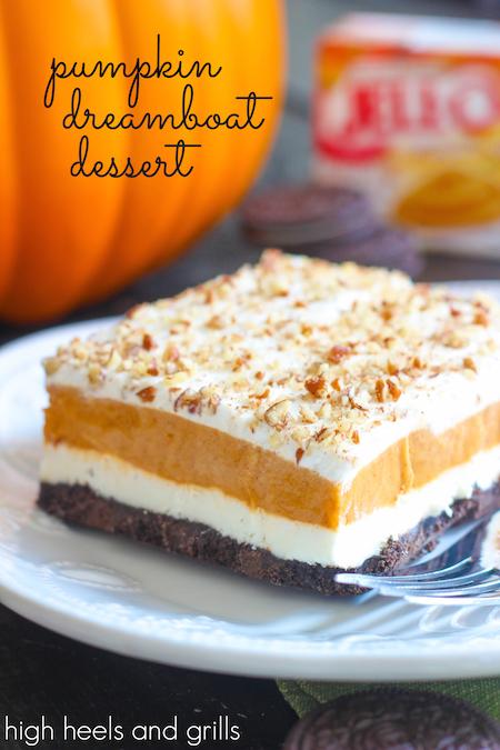 pumpkin dream boat dessert
