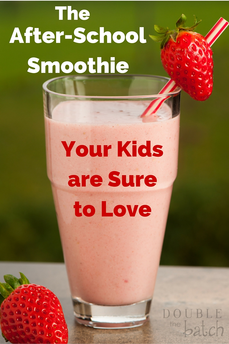 The after-school smoothie that is sure to make your kids #SnackandSmile. #ad #sponsored