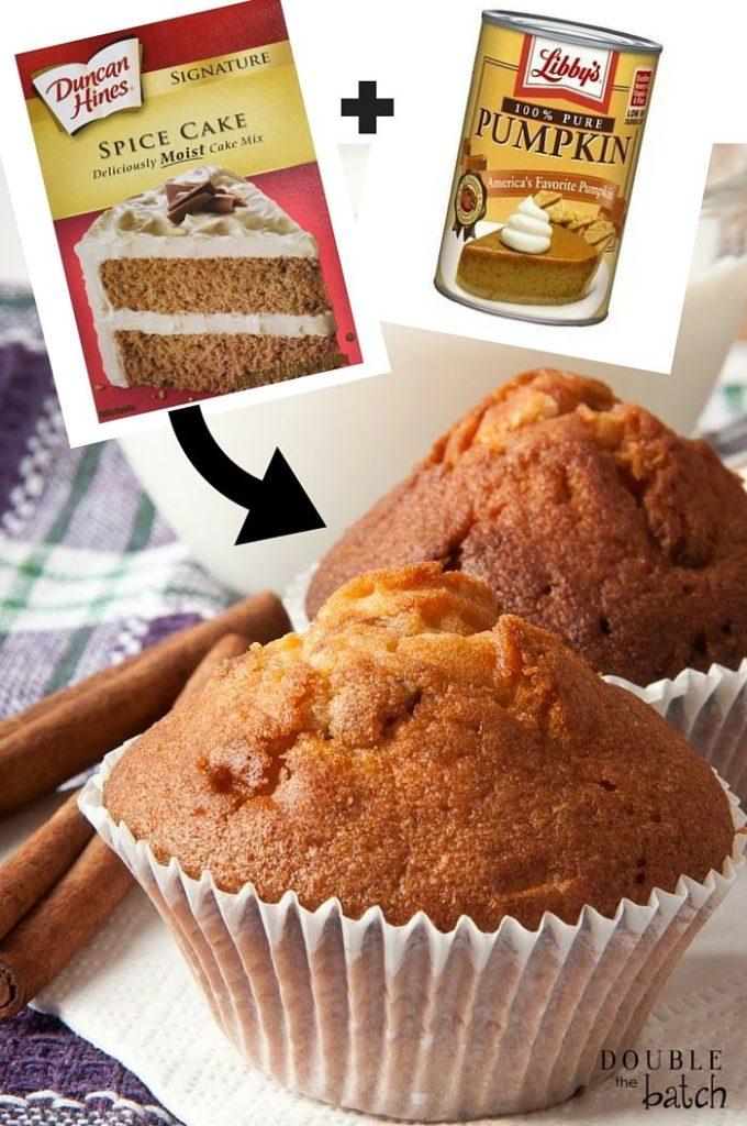 2 ingredient pumpkin muffins