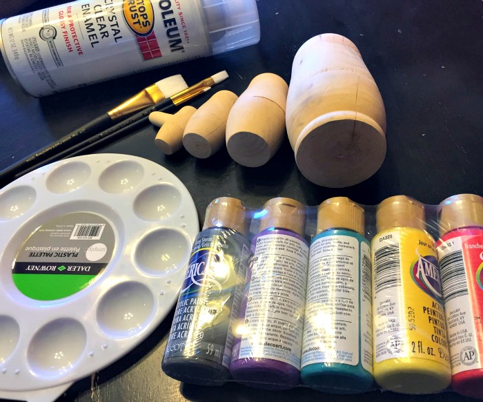 Supplies for making your very own Russian Nesting Dolls