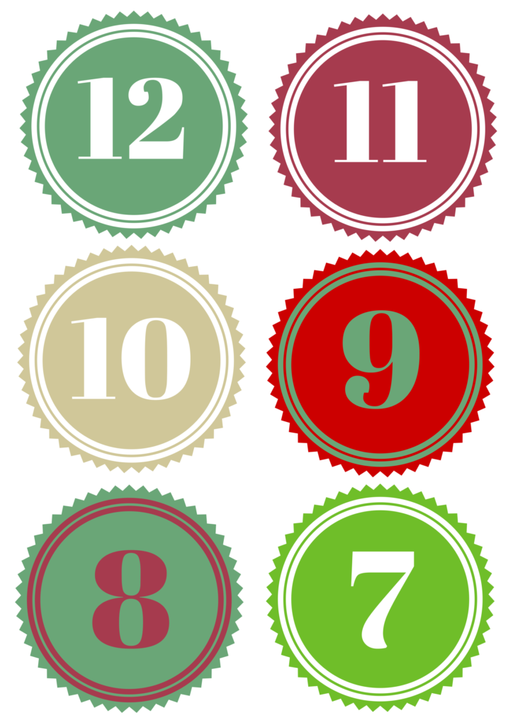 A fast and easy way to do the 12 days of Christmas for your neighbor! Free Printable included!
