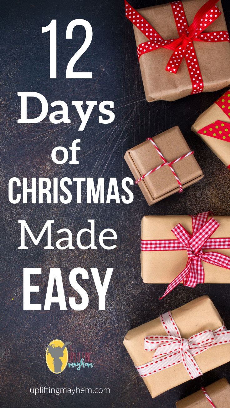 Simplify your 12 days of Christmas with these great ideas! Get your kids involved with this new fun Christmas Tradition of the 12 Days of Christmas!!
