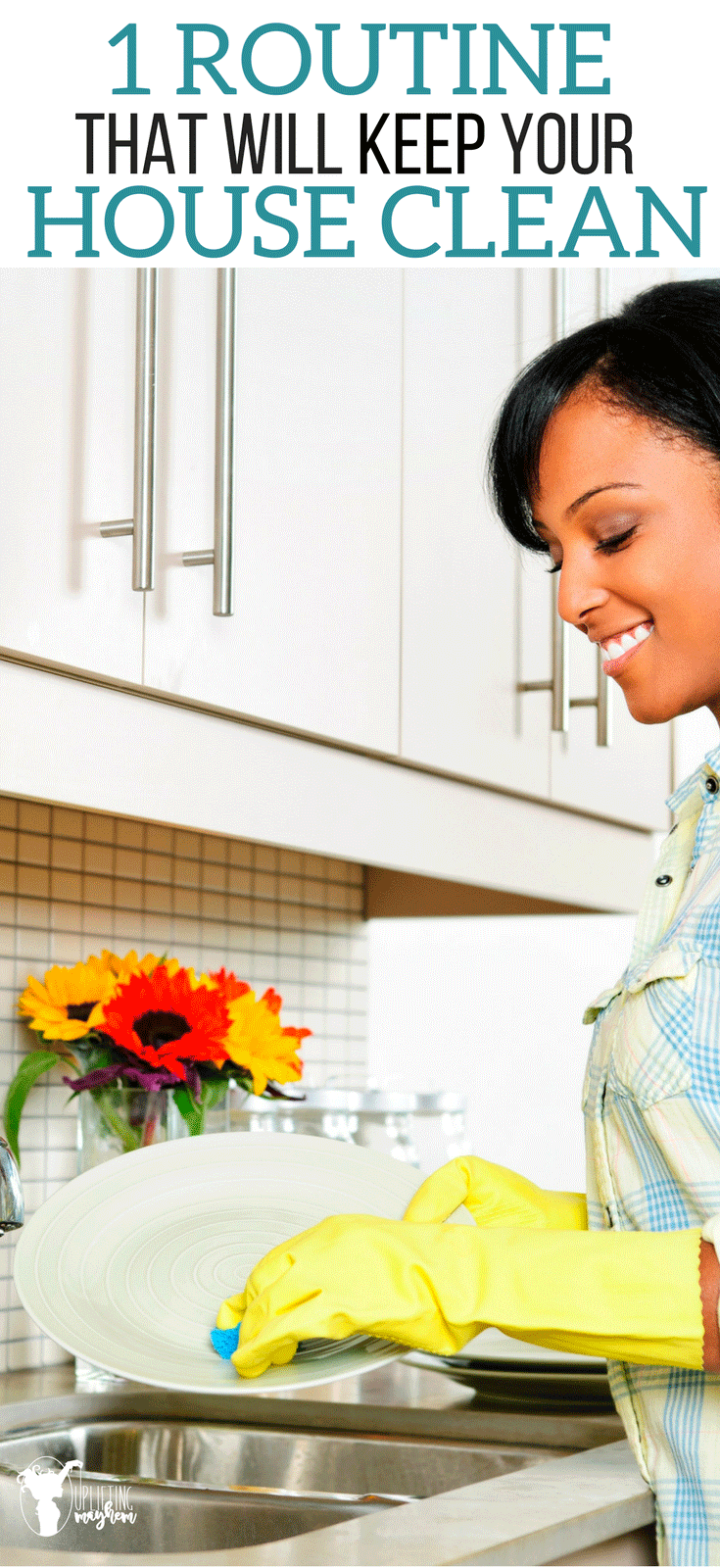 A routine that works that will help keep your house clean! A clean house is a clean mind.