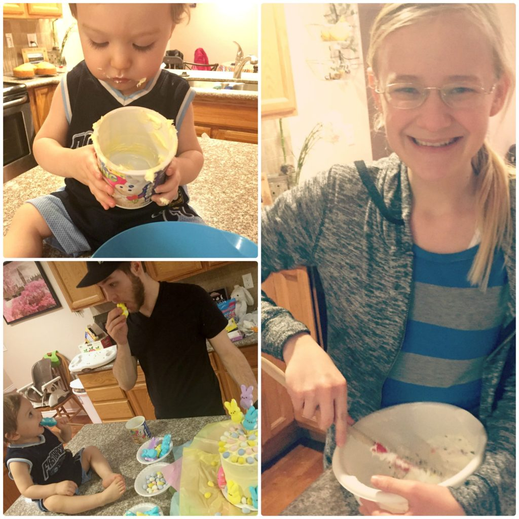 Easter Dessert making with the family!