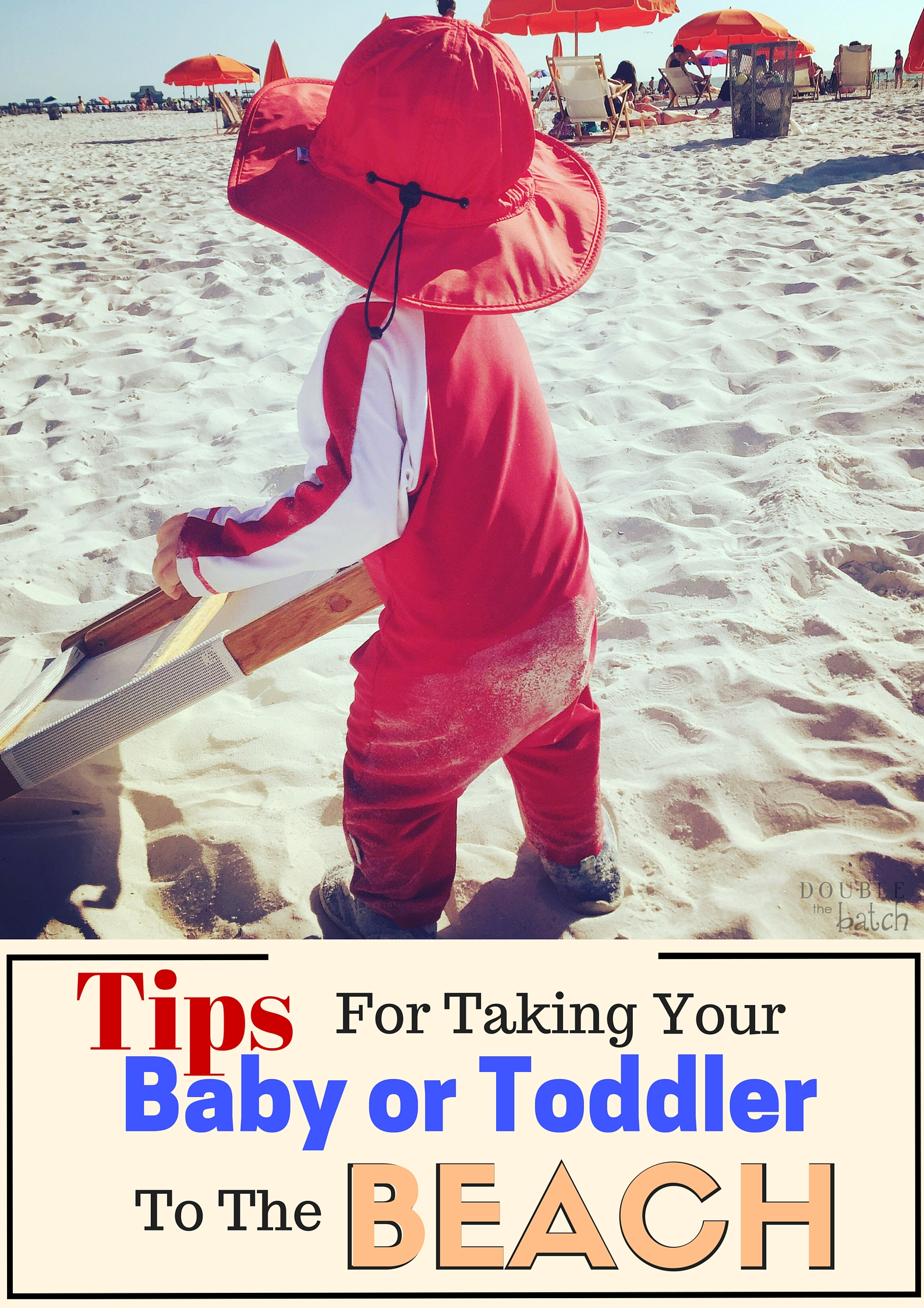 Tips for taking your baby to the beach