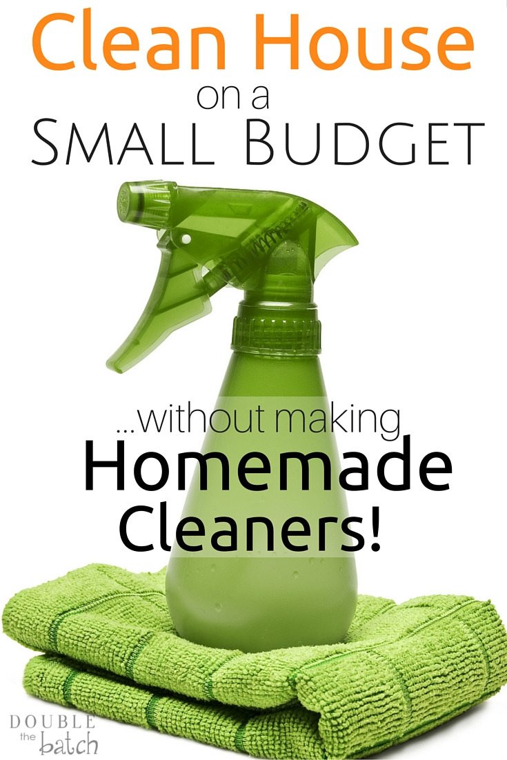 Keeping a clean house on a budget just got a whole lot simpler! If you're tired of making homemade cleaners but don't want to bust the budget, try this instead!