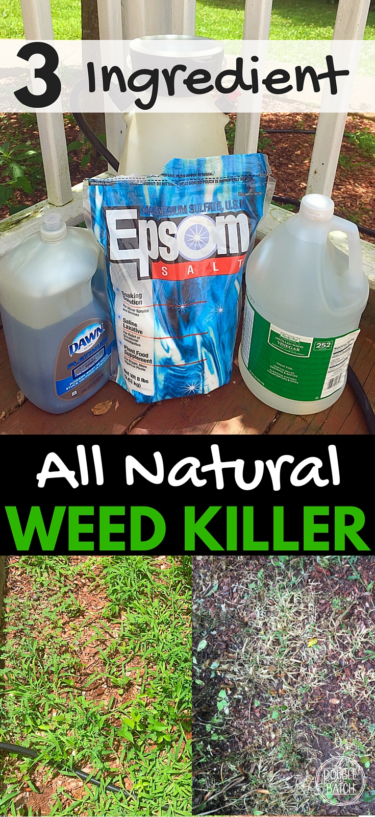 3 Ingredient Natural Weed Killer