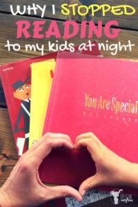 Why I don't read to my child at night