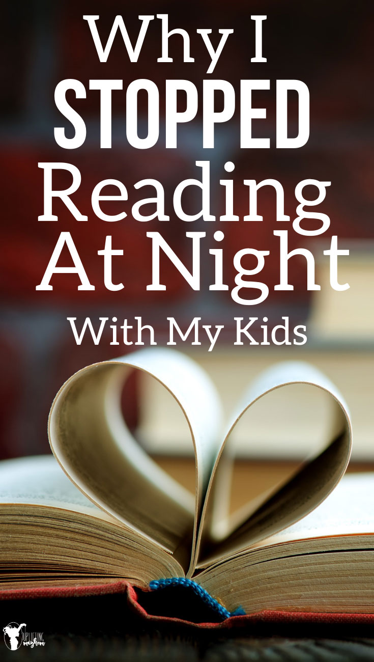 You don't have to read at night if it doesn't work for your family! There are so many other ways to find time to ready! Check out all of the ideas