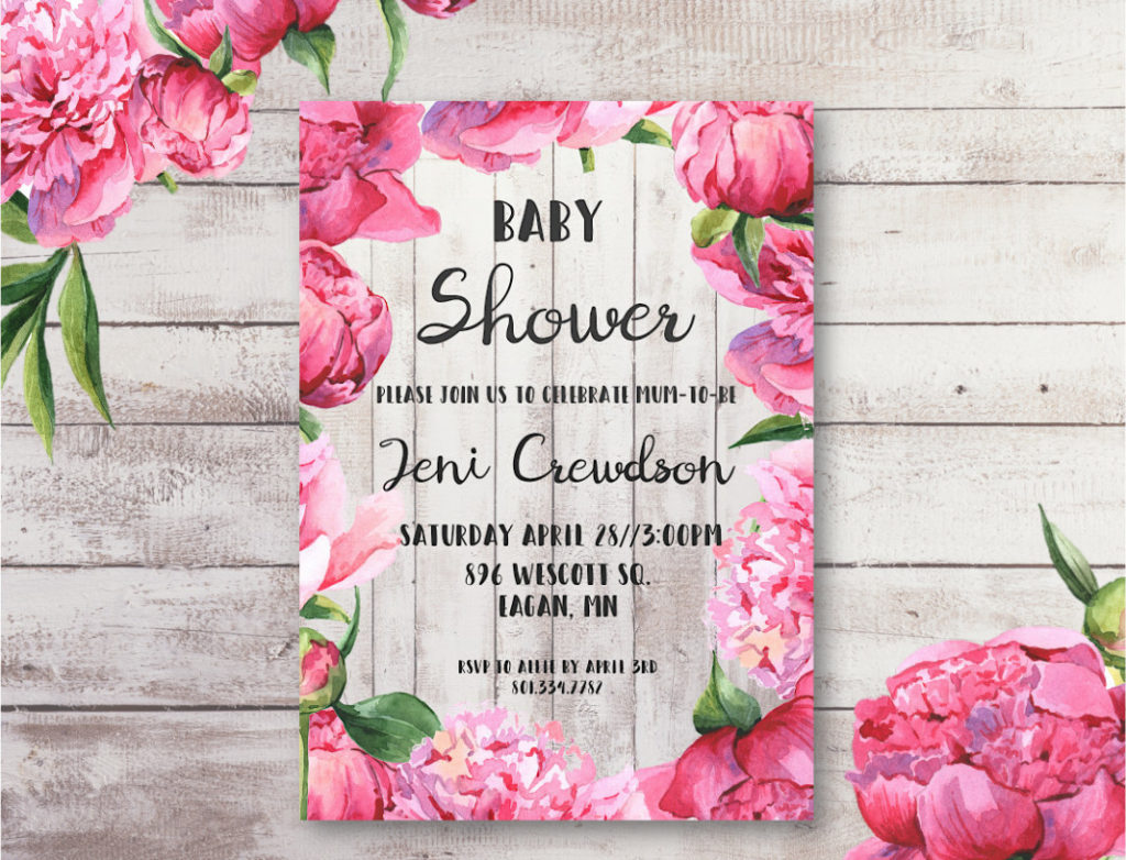 Free printable and editable baby shower invitation.