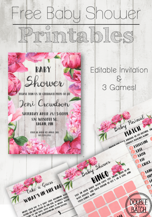 image regarding Baby Shower Templates Free Printable named No cost Child Shower Printables - Uplifting Mayhem