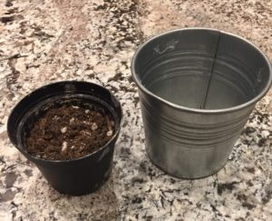 Planting pot and Another pot to allow drainage