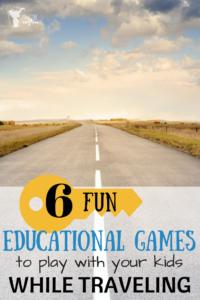 6 FUN EDUCATIONAL TRAVELING GAMES