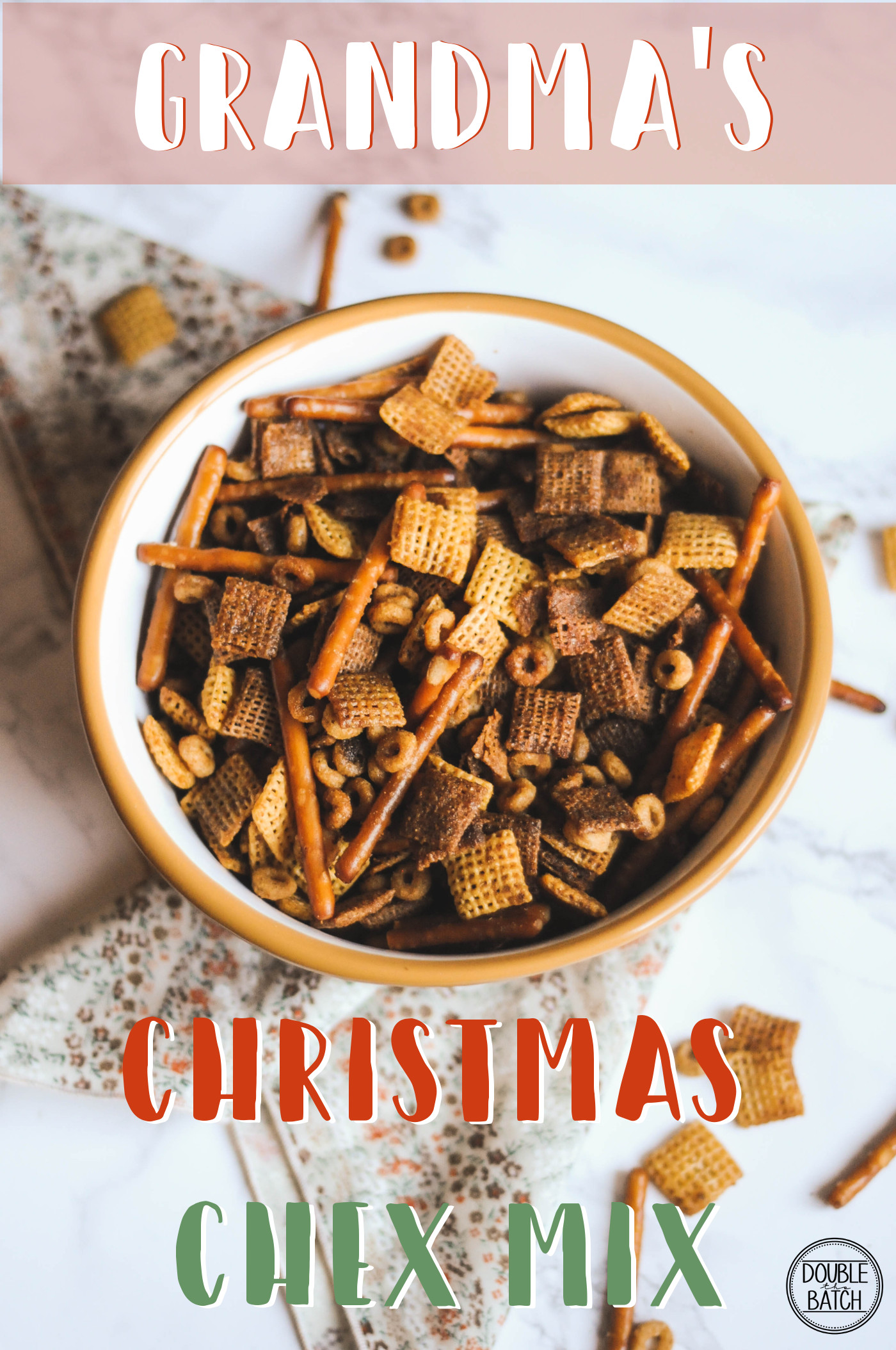 Grandma's Christmas Chex Mix