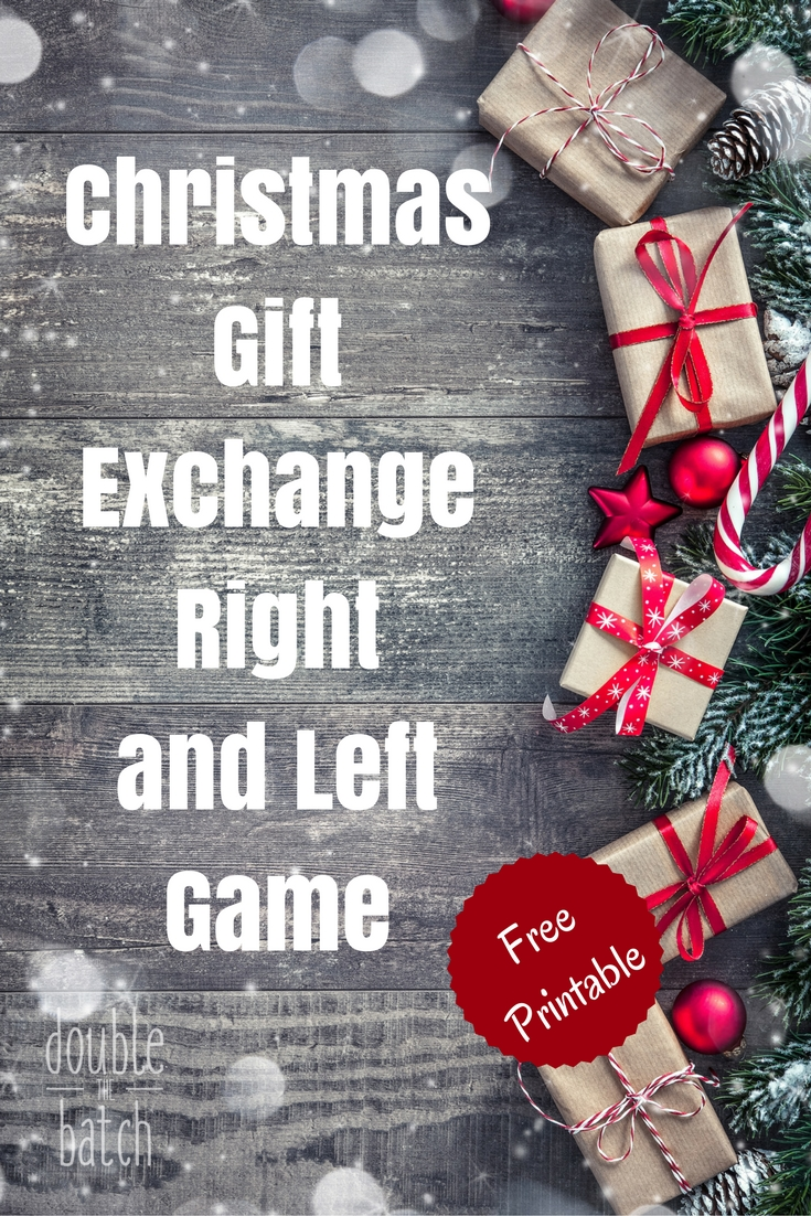 image about Left Right Christmas Game Printable named Xmas Directly/Still left Present Replace Recreation Poem - Uplifting