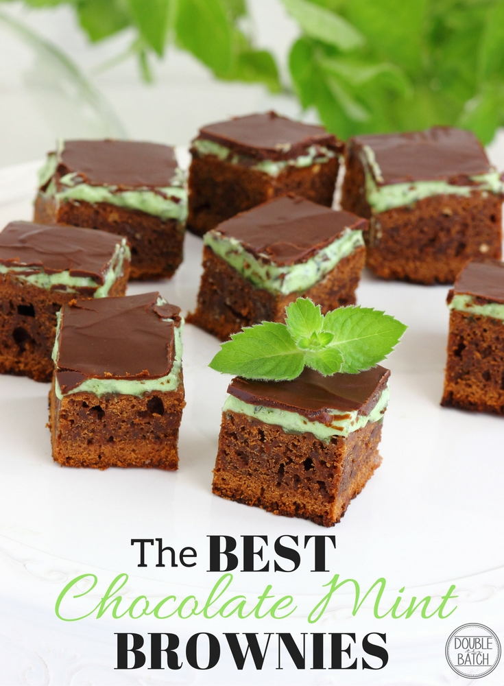 If you haven't tried these Chocolate Mint brownies, you haven't LIVED yet!