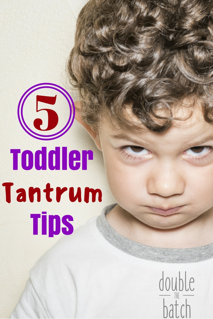 5 Toddler Tantrum Tips to make life with Toddlers easier.