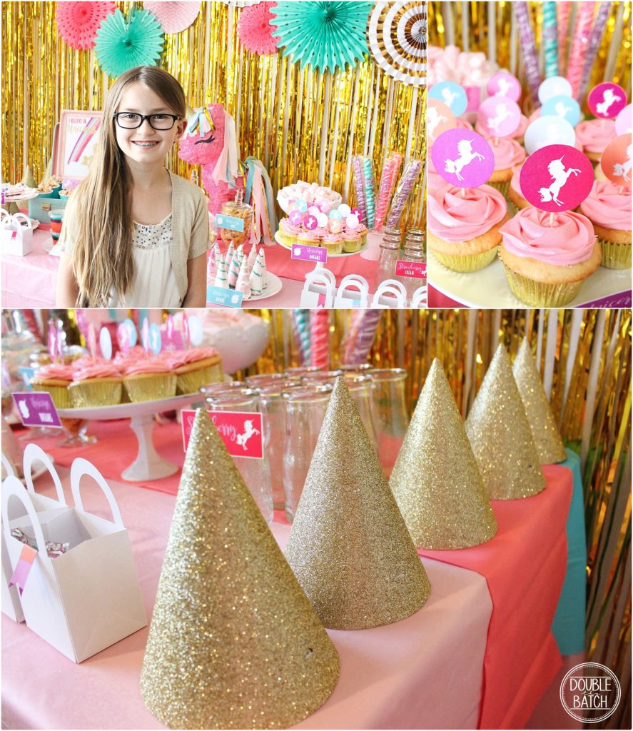 Pink and turquise Unicorn Party for a little princess