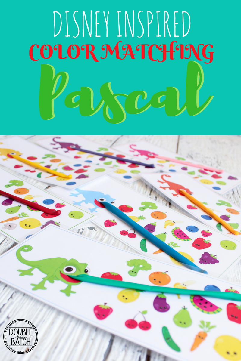 Disney Inspired Pascal Color Matching- FREE BUSY BAG PRINTABLE