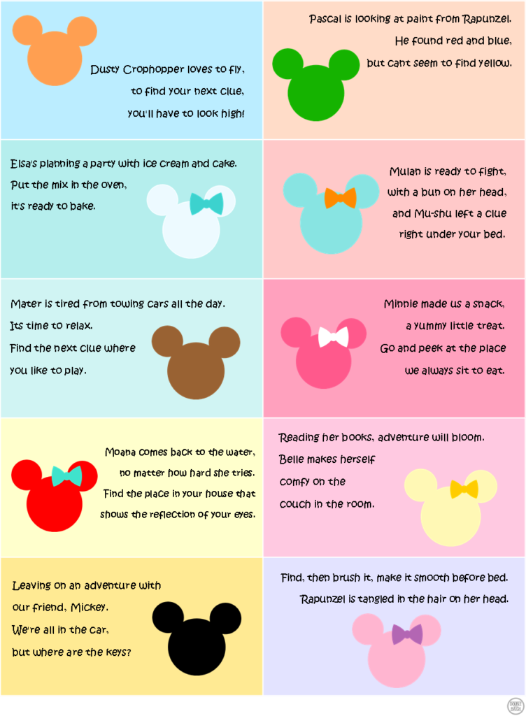 Disney Scavenger Hunt - Clues 2