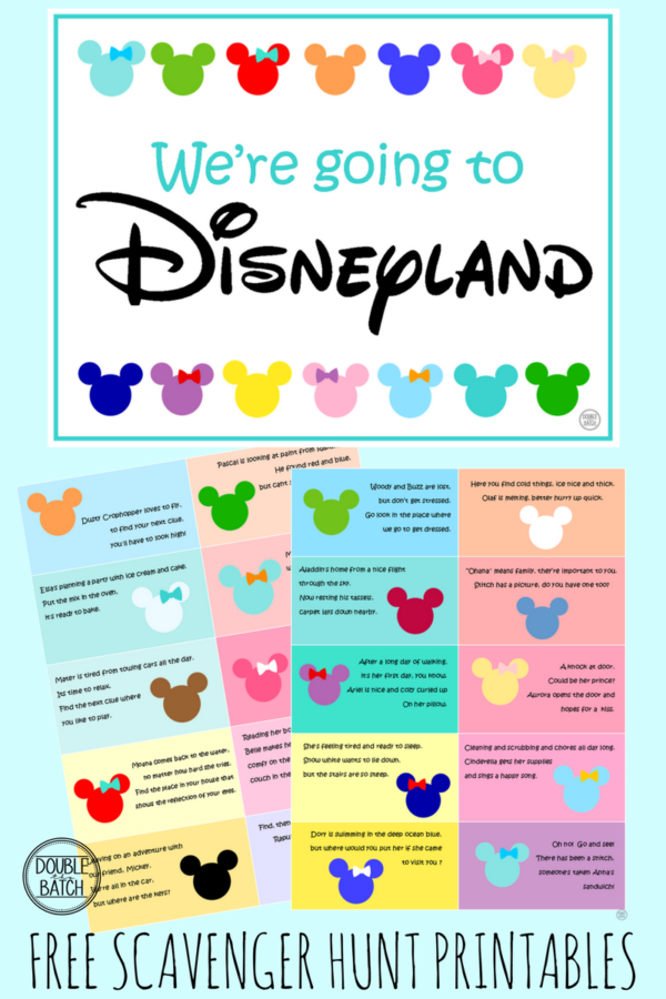 photo relating to You're Going to Disneyland Printable identify DISNEY THEMED SCAVENGER HUNT- Totally free Clues Supplying Your