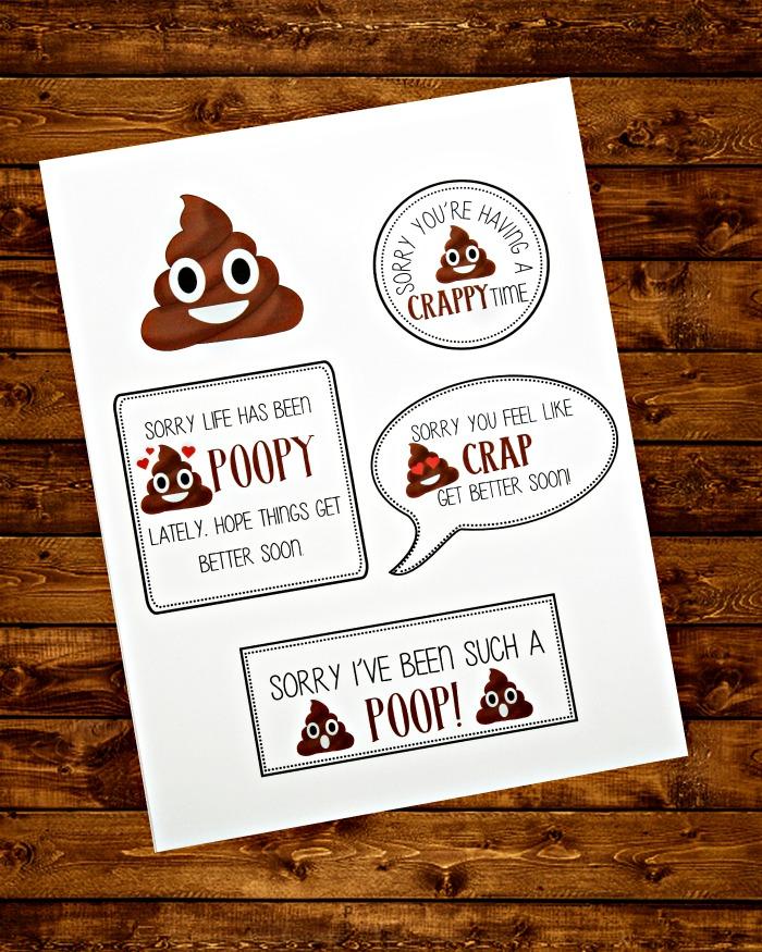 Poop Emoji Printable
