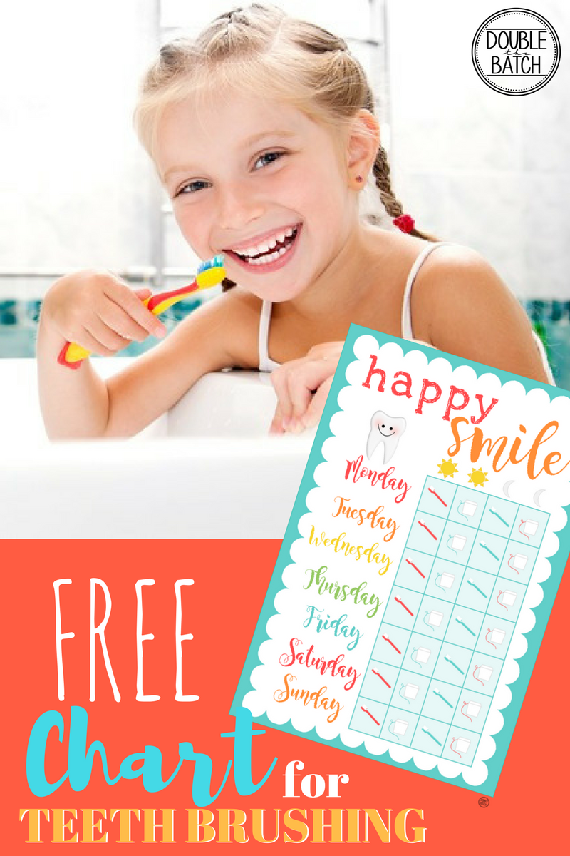 TEETH BRUSHING CHART FOR KIDS-FREE PRINTABLE