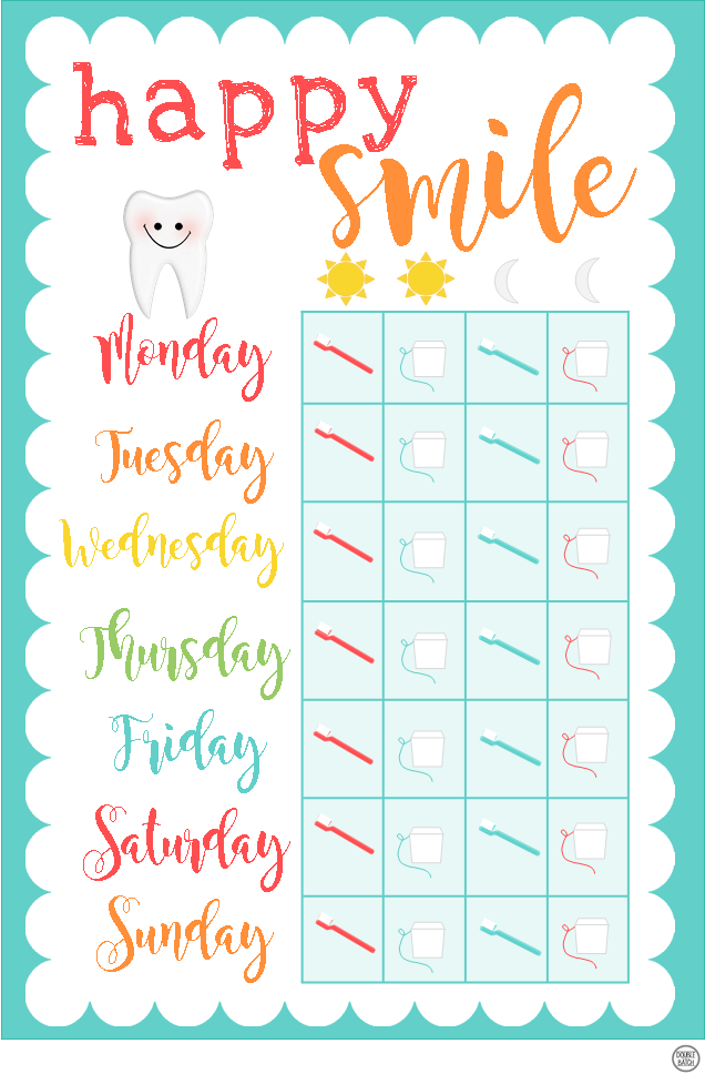 tooth brushing chart