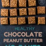 Healthy Chocolate Peanut Butter Oat Bar Recipe (No-Bake)