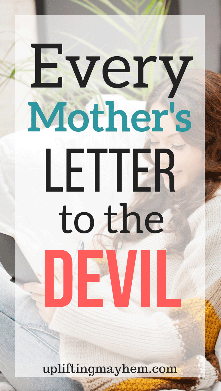 The force of a mother is strong and very influential. This letter inspires and teaches our role of a mother!