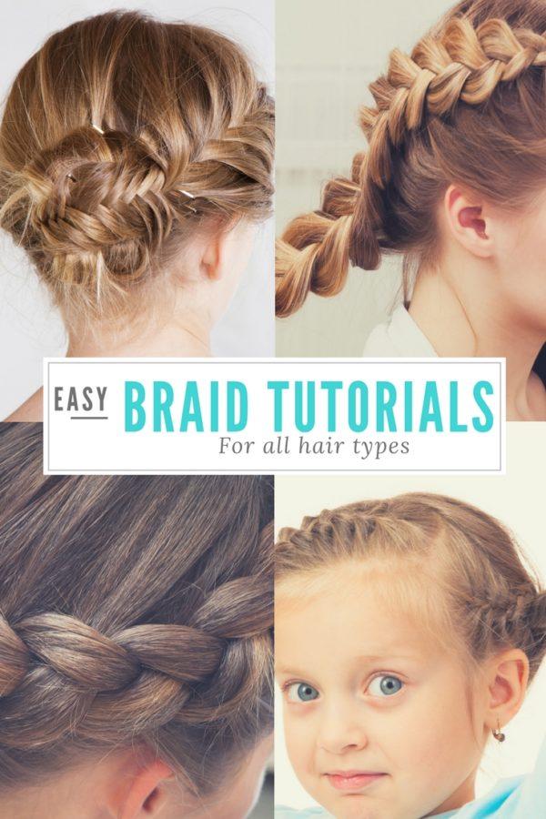 Easy Braid Tutorials for ALL HAIR TYPES - Uplifting Mayhem