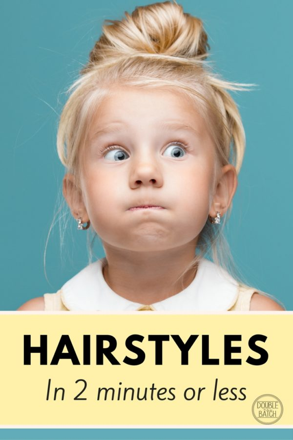 Quick And Easy Hairstyles For Little Girls 2 Minutes Or Less