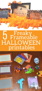 5 Freaky, Frameable, Halloween Printables