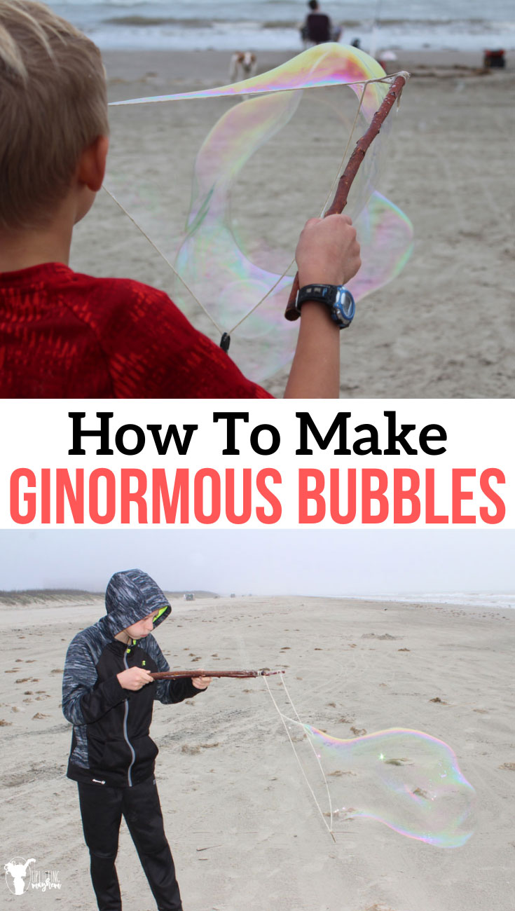 Make these HUGE bubbles and spend hours and hours in awe! They are so fun and will captivate any audience. Easy to make for hours of fun making bubbles