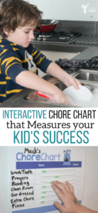 Interactive chore chart that helps your kid see how well they are doing! Free printable! Make chores easier and print it out!