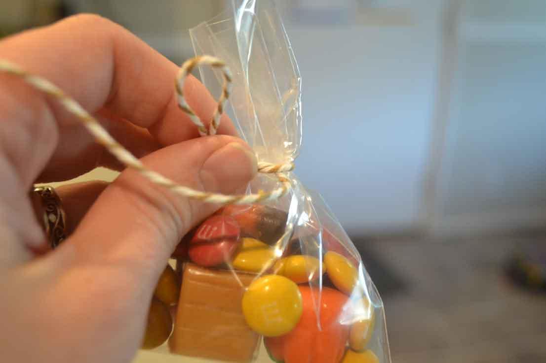 twine, candy, bag