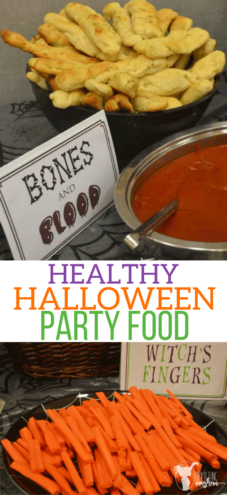 Delicious, Healthy and spooky foods for Halloween parties that your guests will love! Halloween party food and Free Halloween food labels!