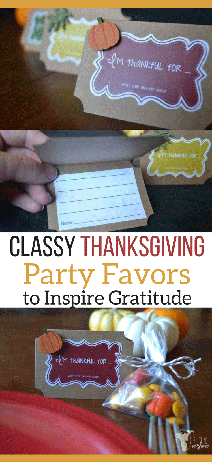 Thanksgiving Party Favors to Inspire Gratitude