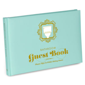 guest book, white elephant gift