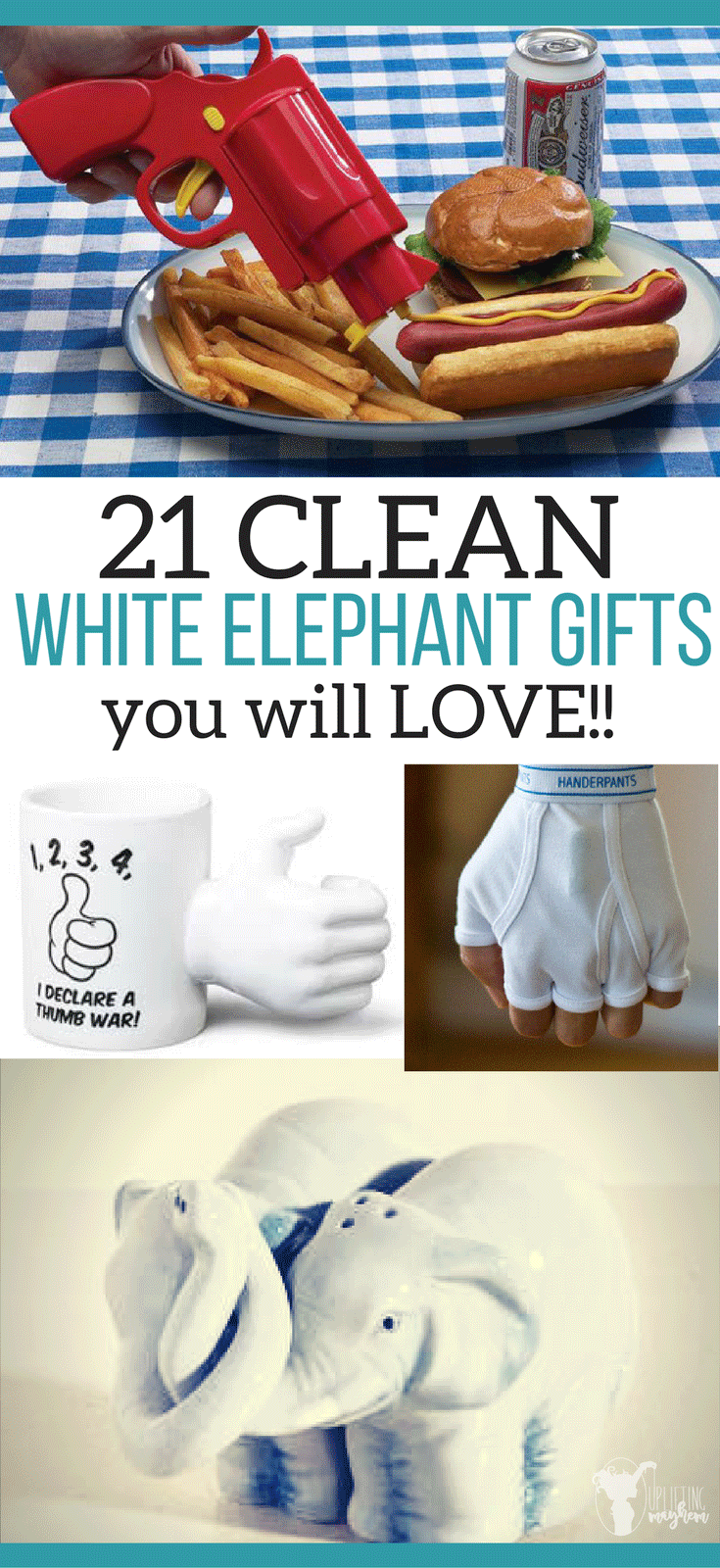 21 Clean White Elephant Gifts You Will LOVE! These white elephant gifts are funny and clean! Perfect for your family party or any other party