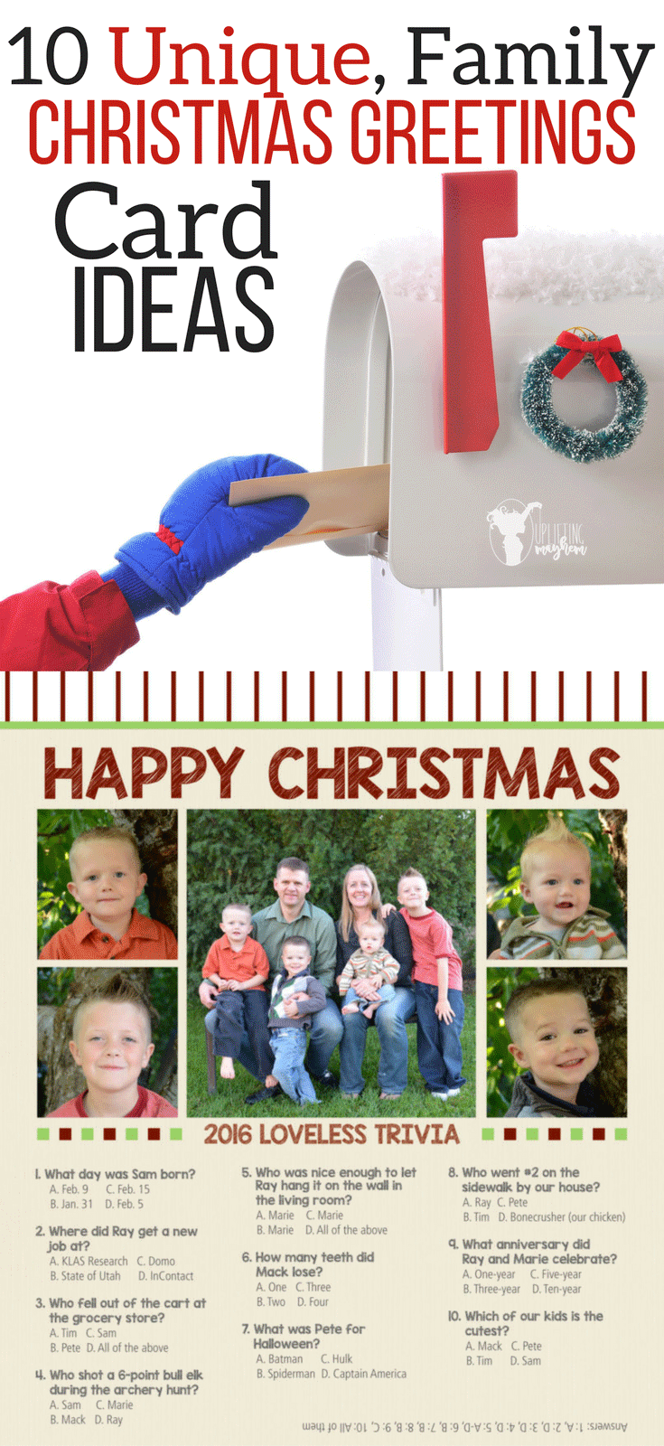 10 Unique Christmas Greeting Card Ideas