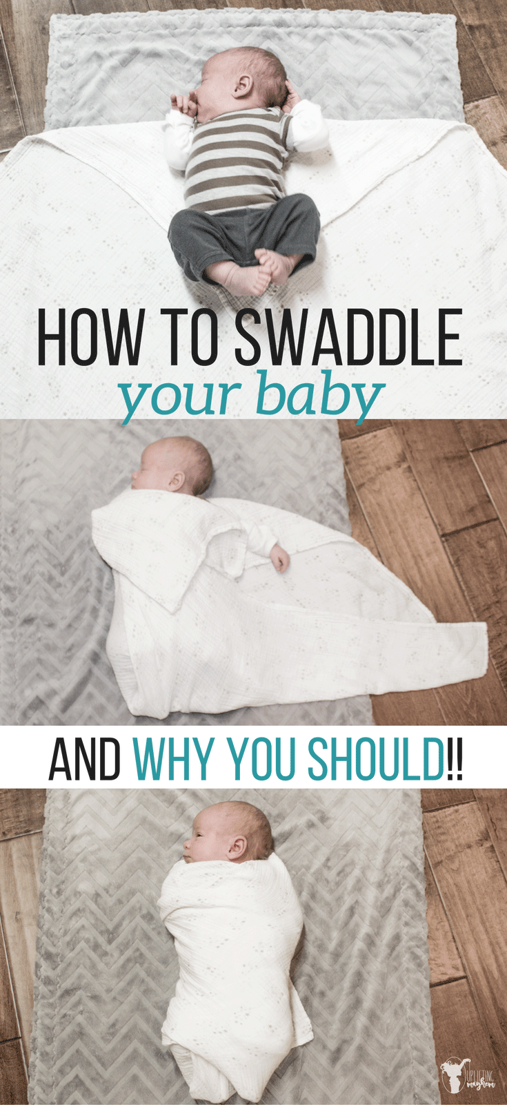 Fussy baby? Swaddling your baby is a GAME CHANGER! Here is how and why you should swaddle your baby!